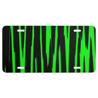 EMERALD ISLE (an abstract art design) ~ License Plate