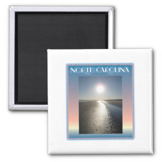 Emerald Isle Beach, NC at Sunset 2 Inch Square Magnet
