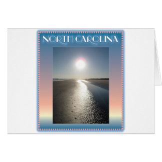 Emerald Isle Beach, NC at Sunset Greeting Cards