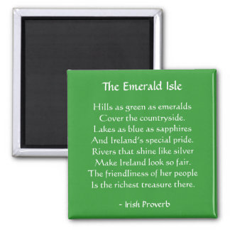 Emerald Isle Irish Proverb Magnet