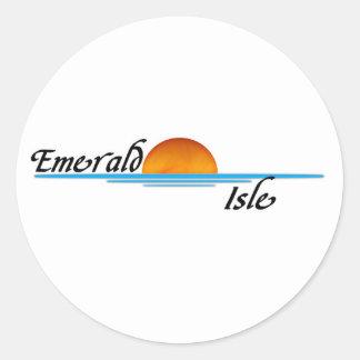 Emerald Isle Pegatina Redonda
