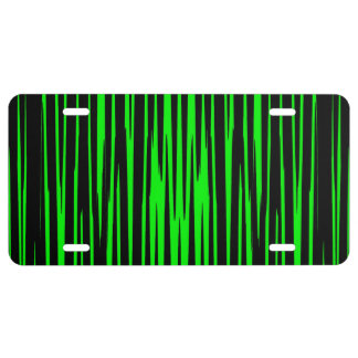 EMERALD ISLE TILE (an abstract art design) ~ License Plate