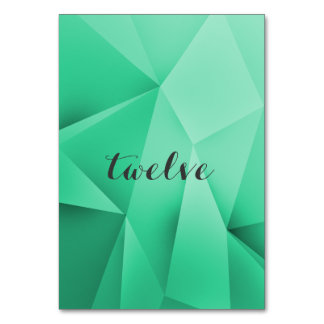 Emerald Jewel Tones Table Number Card