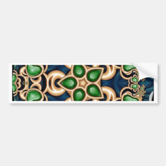 Emerald Jewels Kaleidoscope Car Bumper Sticker