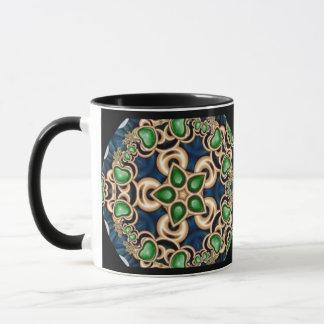 Emerald Jewels Kaleidoscope Mug