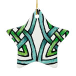 Emerald Labyrinth Ceramic Ornament