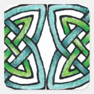 Emerald Labyrinth Square Sticker