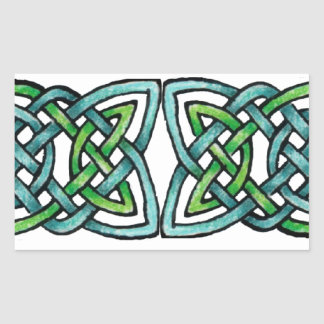 Emerald Labyrinth Rectangular Sticker