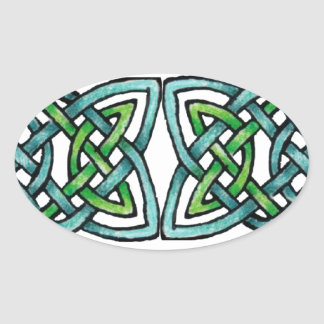 Emerald Labyrinth Oval Sticker