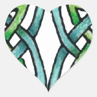 Emerald Labyrinth Heart Sticker