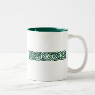 Emerald Labyrinth Two-Tone Coffee Mug