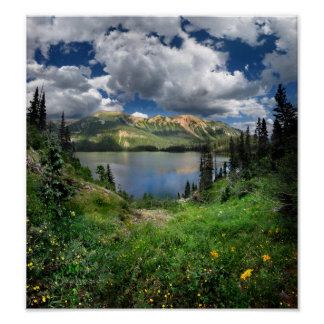 Emerald Lake 4 - Weminuche Wilderness - Colorado Poster