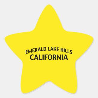Emerald Lake Hills California Star Sticker