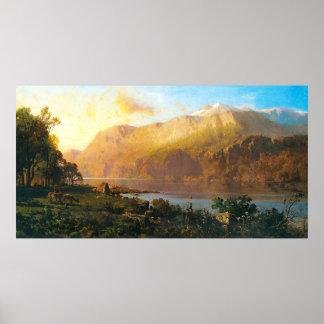 Emerald Lake near Tahoe, Thomas Hill Poster