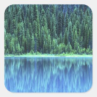 Emerald Lake, Yoho NP, BC, Canada Square Sticker