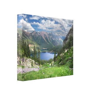 Emerald Lakes 2 - Weminuche Wilderness - Colorado Canvas Print