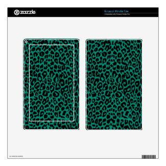 Emerald Leopard Skins Skins For Kindle Fire