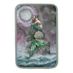 Emerald Mermaid Fantasy Art MacBook Sleeve at Zazzle