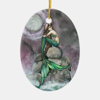 Emerald Mermaid Fantasy Art Ornament