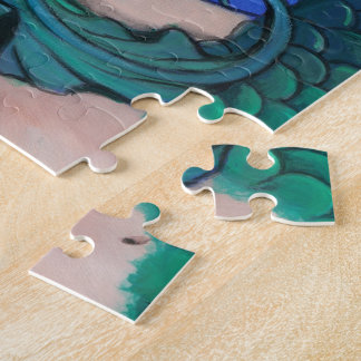 """""""Emerald Mermaid"""" fantasy art PUZZLE by ronne"""