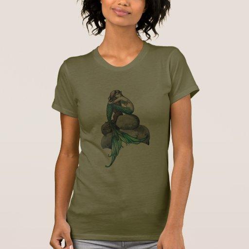 Emerald Mermaid Fantasy Art t-Shirt