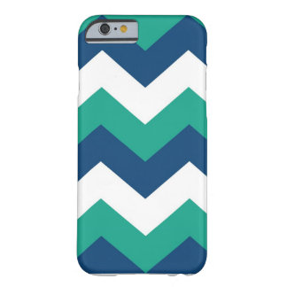 Emerald Monaco Blue abstract chevron iPhone 6 case