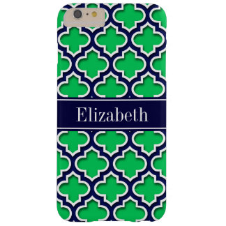Emerald Navy Moroccan #5DS Navy Name Monogram Barely There iPhone 6 Plus Case