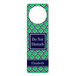 Emerald Navy Moroccan #5DS Navy Name Monogram Door Hanger