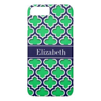 Emerald Navy Moroccan #5DS Navy Name Monogram iPhone 7 Plus Case