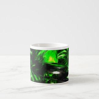 Emerald Nigthmares Pastel Abstract Espresso Cup