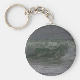 Emerald Oregon Surf Basic Round Button Keychain