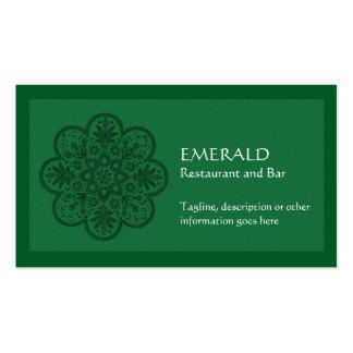 Emerald Ornament Business Card