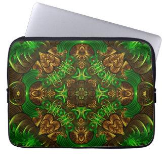 Emerald Path Mandala Computer Sleeve