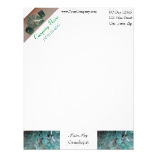 Emerald Pattern Letterhead