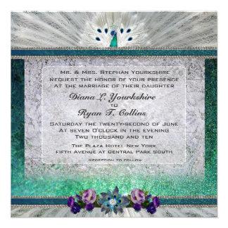 Emerald Peacock Invitation
