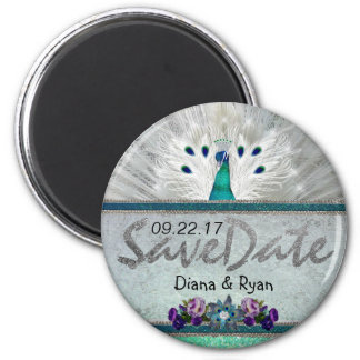 Emerald Peacock Save the Date Magnet