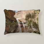 Emerald Pool Falls I from Zion National Park Accent Pillow