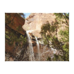 Emerald Pool Falls I from Zion National Park Canvas Print