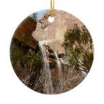 Emerald Pool Falls I from Zion National Park Ceramic Ornament