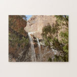 Emerald Pool Falls I from Zion National Park Jigsaw Puzzle