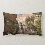 Emerald Pool Falls I from Zion National Park Lumbar Pillow