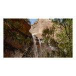 Emerald Pool Falls I from Zion National Park Poster