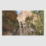 Emerald Pool Falls I from Zion National Park Rectangular Sticker