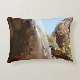 Emerald Pool Falls II from Zion National Park Accent Pillow