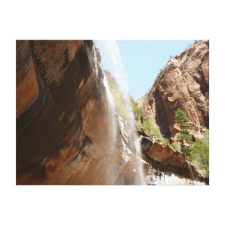 Emerald Pool Falls II from Zion National Park Canvas Print