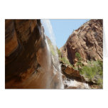 Emerald Pool Falls II from Zion National Park Card