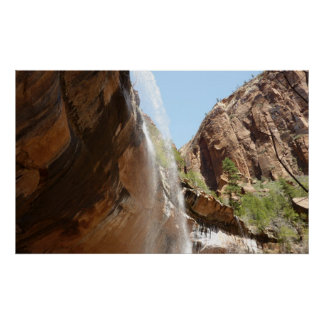 Emerald Pool Falls II from Zion National Park Poster