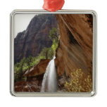 Emerald Pool Falls III from Zion National Park Metal Ornament