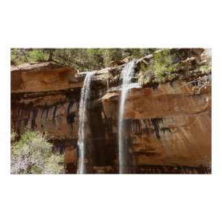 Emerald Pool Falls IV from Zion National Park Utah Poster