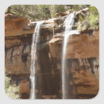 Emerald Pool Falls IV from Zion National Park Utah Square Sticker